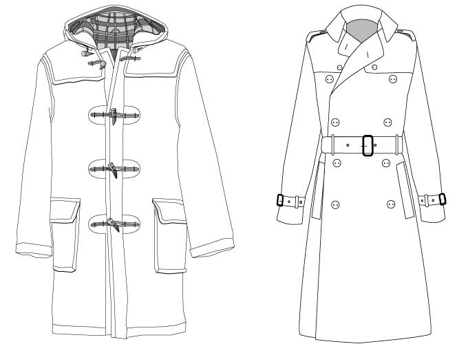duffel | trenchcoat